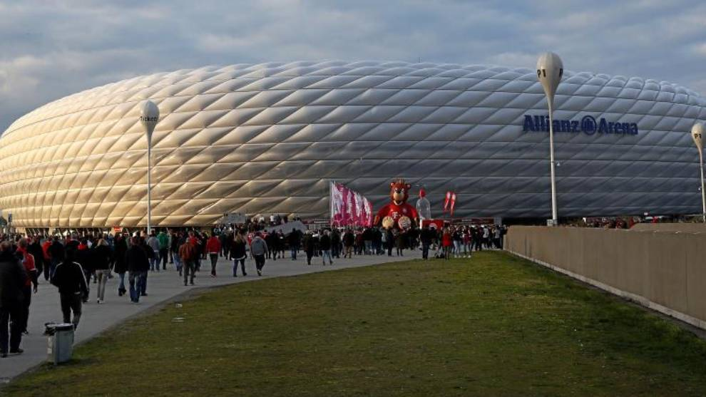 El impresionante Allianz Arena, el estadio del Bayern.