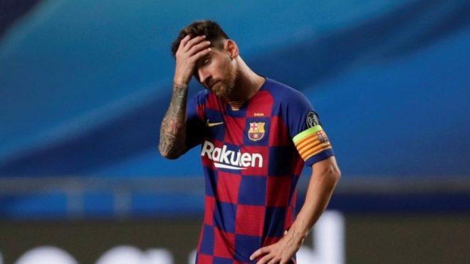Leo Messi lamenta la paliza con Bayern Múnich