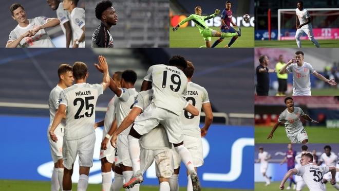 Imágenes de los jugadores del Bayern de la noche de la goleada al...