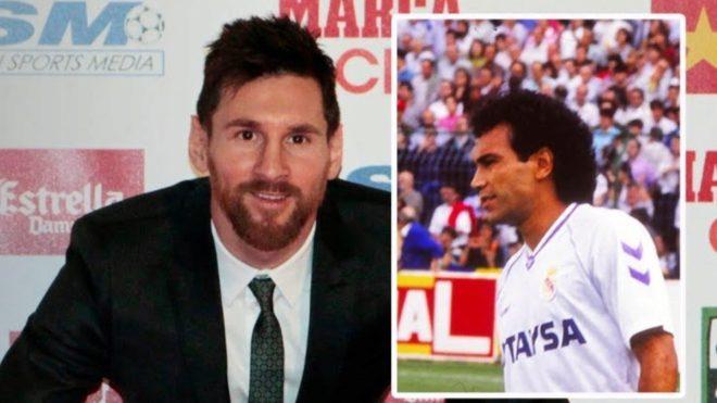 Montaje de Messi y Hugo Sánchez.