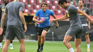 Antonio Conte, durante un entrenamiento con el Inter.