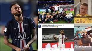 Neymar sufre tras perder la final de la Champions League ante el...