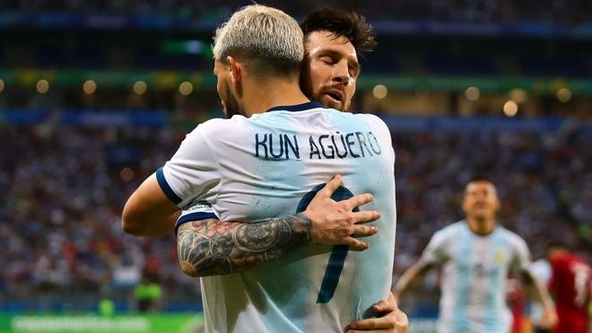 Messi y Agüero en la Selección Argentina