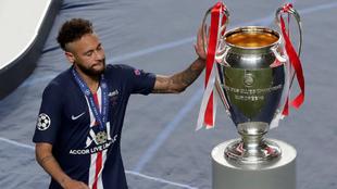 Neymar se quedó cerca de conquistar la Champions League.