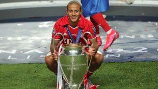 Thiago Alcántara fue campeón de la Champions League con Bayern...