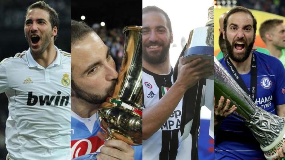 Gonzalo Higuaín fue campeón con cuatro de los cinco clubes donde...