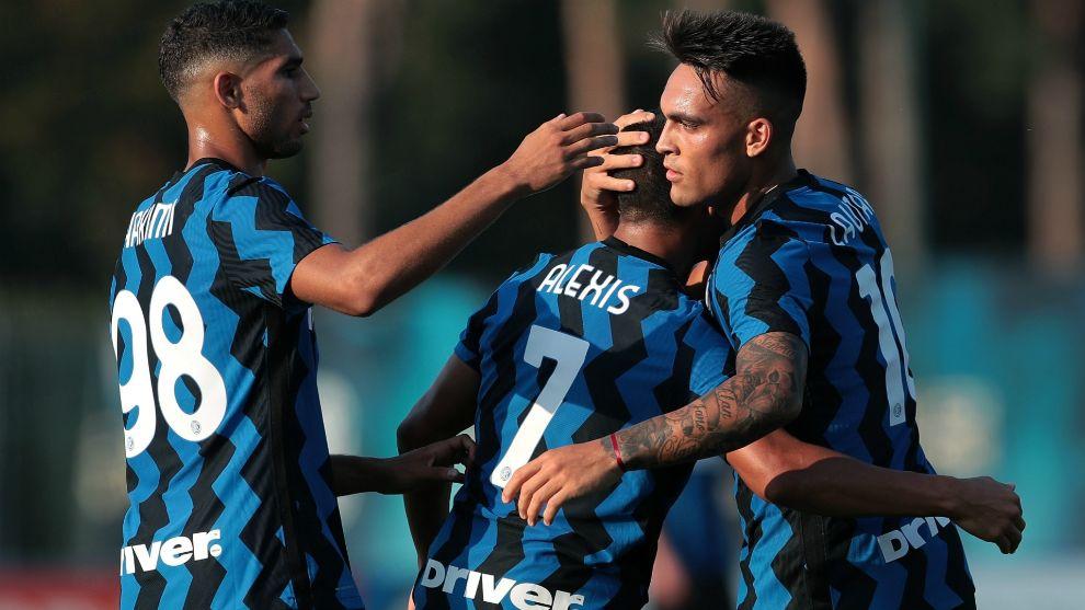 Gran desempeño de Lautaro en el amistoso del Inter
