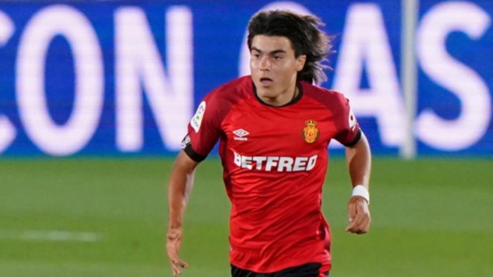 Luka Romero en un partido con el Mallorca.