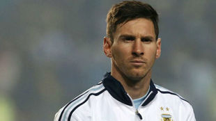 Leo Messi con Argentina.
