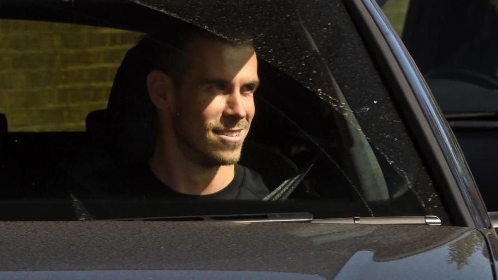 Bale a su llegada a Londres.