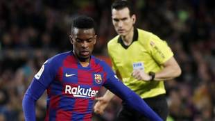 Nélson Semedo, en un partido con el Barcelona.