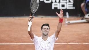 Novak Djokovic celebra su triunfo ante Casper Ruud