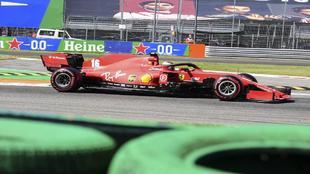 Leclerc, durante una carrera del Mundial de Fórmula 1.