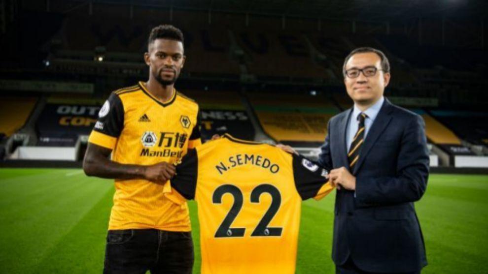 Nelson Semedo como nuevo jugador de los 'Wolves'.