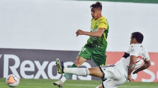Braian Romero convirtió el segundo gol de Defensa y Justicia
