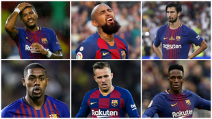 Paulinho, Vidal, André Gomes, Malcolm, Arthur y Yerry Mina.
