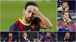 Leo Messi, más solo que nunca.