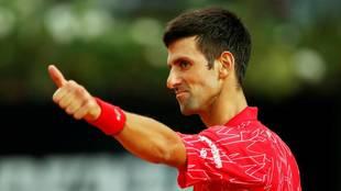 Novak Djokovic, durante un partido de esta temporada.