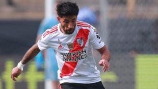 Milton Casco, durante la final de la Libertadores 2019 ante Flamengo.