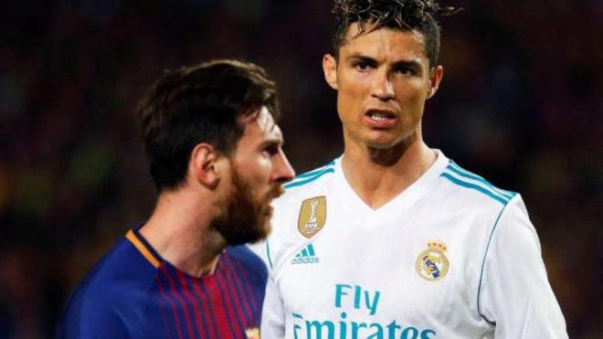 Leo Messi y Cristiano Ronaldo.