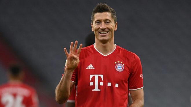 Robert Lewandowski convirtió cuatro goles al Hertha Berlín