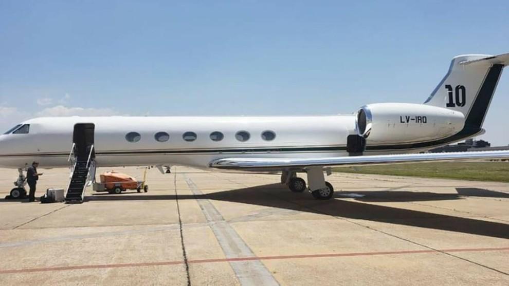 El avión privado de Leo Messi tiene todas las comodidades.