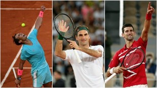 Nadal, Federer y Djokovic
