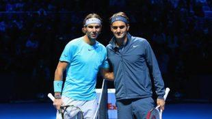 Roger Federer en un partido ante Rafael Nadal