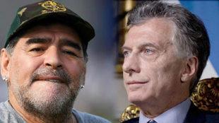 Macri contra Maradona.