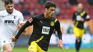 Giovanni Reyna, durante un partido del Borussia Dortmund.