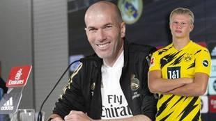 Zinedine Zidane reconoce que Haaland le gusta.