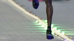 Las nuevas zapatillas y su 'efecto' muelle.