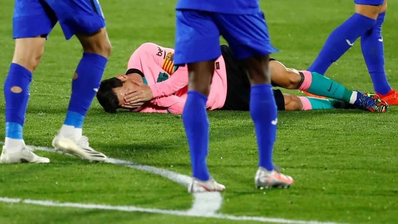 El fuerte codazo que sufrió Messi ante Getafe