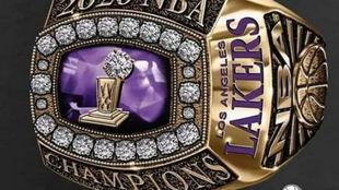 Así será el anillo de campeón de los Lakers.