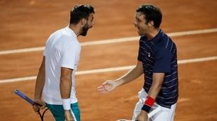 Horacio Zeballos y Marc Granollers festejan un triunfo