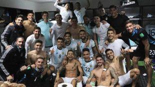 El festejo de la Selección Argentina en La Paz