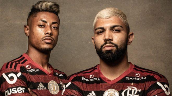 Bruno Henrique y Gabigol.