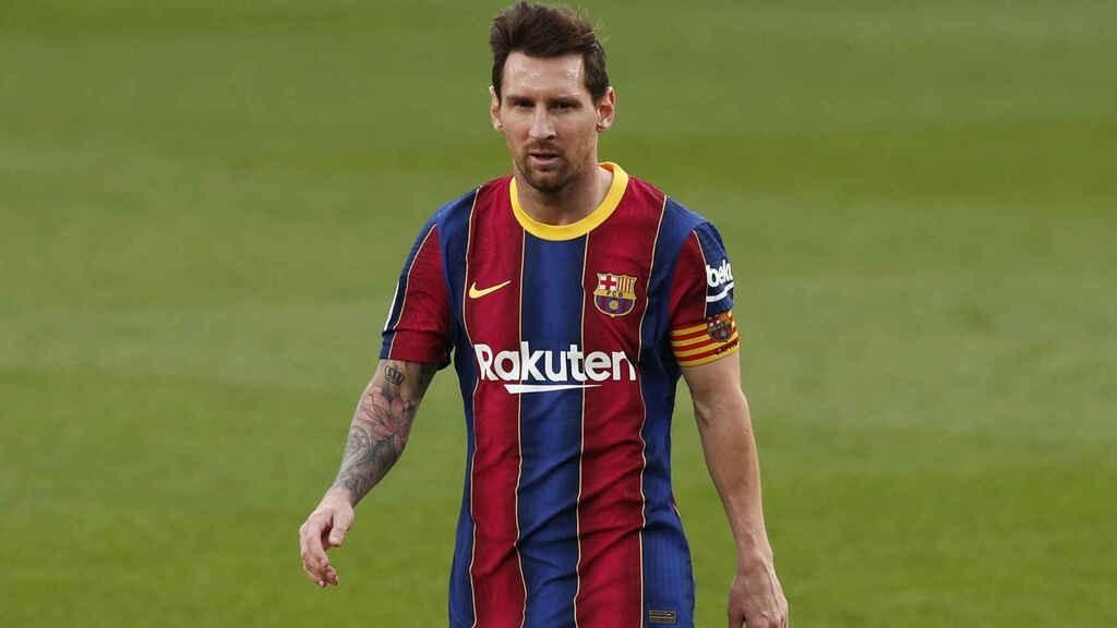 Messi, durante el Clásico contra Real Madrid.