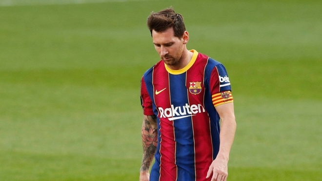 Leo Messi and his sadness at the defeat of Real Madrid