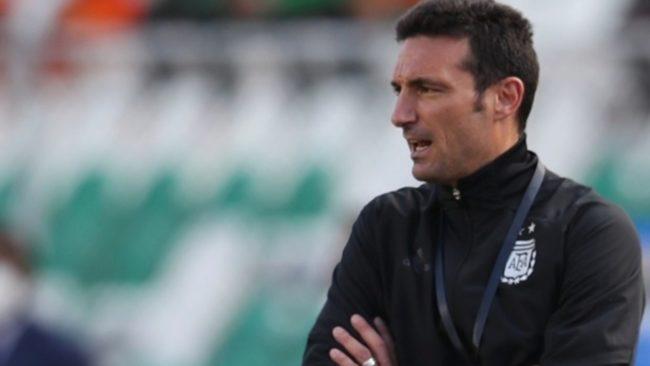 Lionel Scaloni, en un encuentro de la Selección Argentina