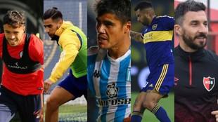 Di Santo, González, Melgarejo, Cardona y Scocco.