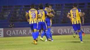 Aldo Vera celebra su gol ante Defensa y Justicia