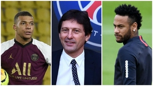 Mbappé, Leonardo y Neymar.