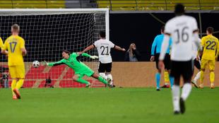 Werner anota el 3-1 para Alemania ante Ucrania.