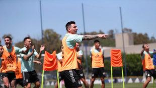 La Selección, encabeza por Messi, se ejercita