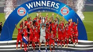 El Bayern de Múnich celebra la Champions