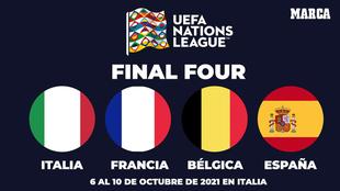 Italia, Francia, Bélgica y España están en el Final Four
