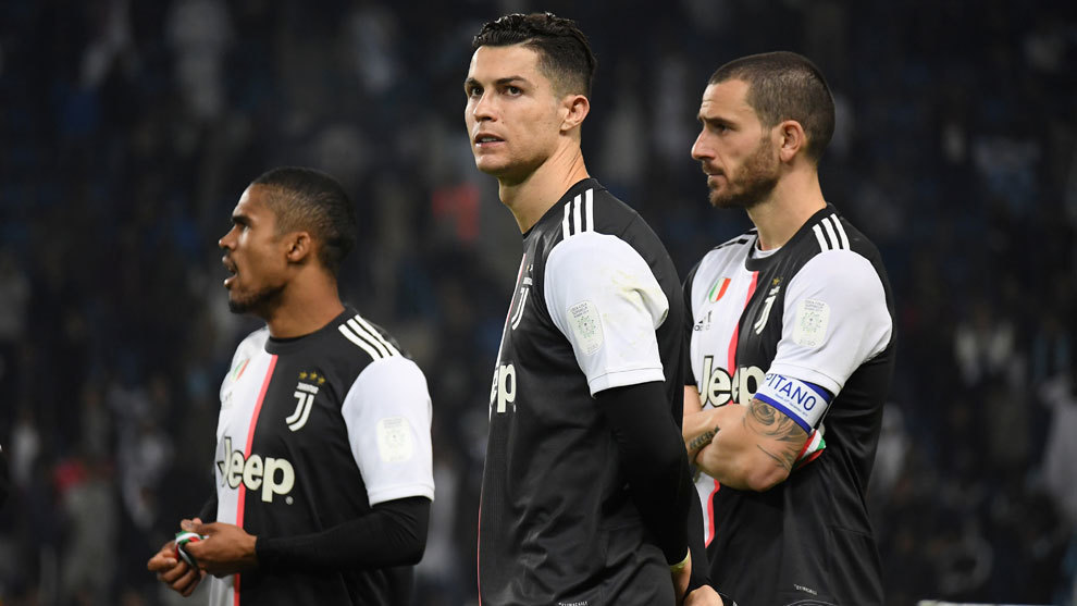 Cristiano Ronaldo en un partido con la Juventus.