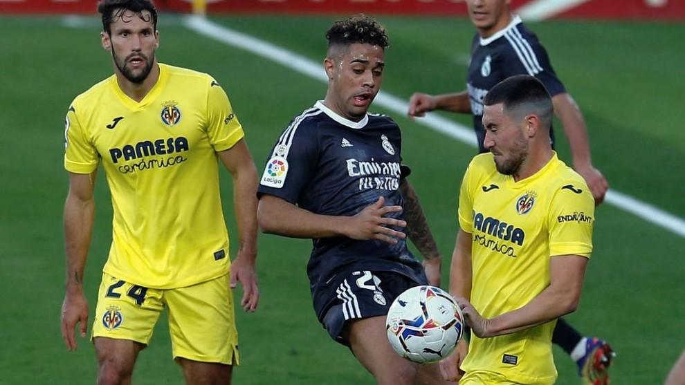 Mariano durante el partido contra el Villarreal.