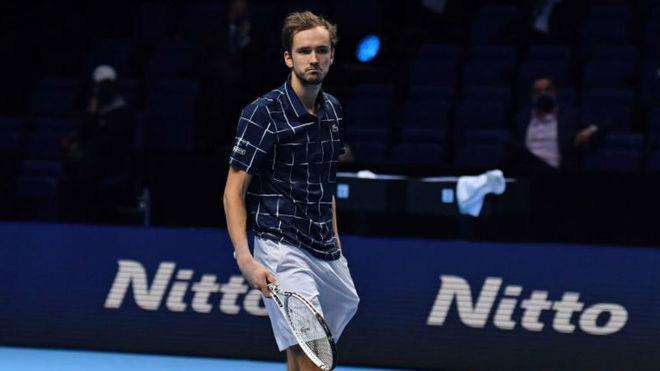 Medvedev, tras consagrarse campeón del torneo de maestros.